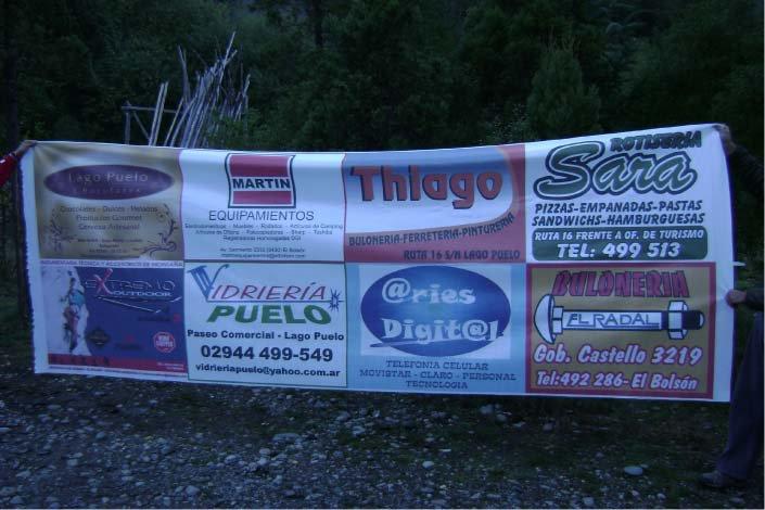 Varios - Bandera impresa - Lago Puelo - Provincia del Chubut - RA Carteles