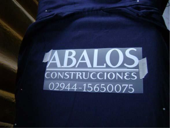 Varios - Termotransferible - Abalos Construcciones - Lago Puelo - Provincia del Chubut - RA Carteles