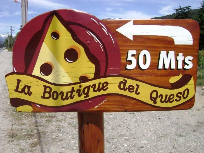 Cartel Pintado – La Boutique del Queso – Lago Puelo – Provincia del Chubut - RA Carteles