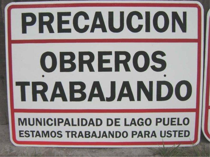 Carteles Pintados - Indicadores de calles - Municipalidad de Lago Puelo - Provincia del Chubut - RA Carteles