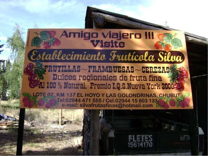 Carteles Pintados - Establecimiento Frutícola Silva - El Hoyo - Provincia del Chubut - RA Carteles