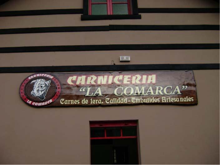 Carteles Pintados - Carnicería La Comarca - Lago Puelo - Provincia del Chubut - RA Carteles