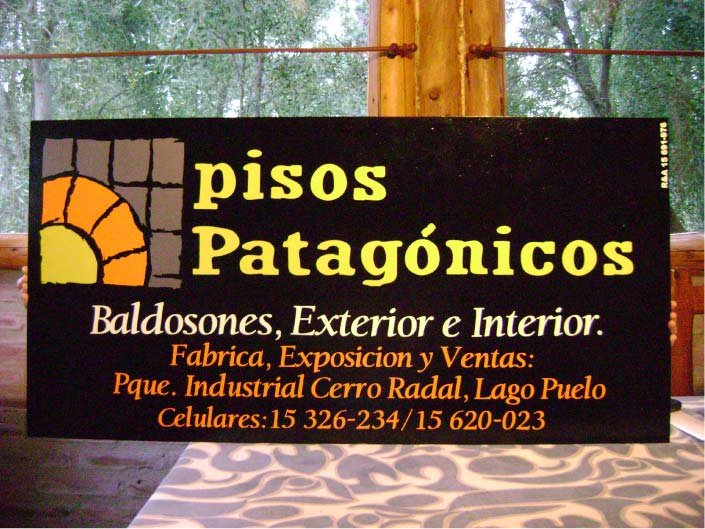 Ploteados - Pisos Patagónicos - Lago Puelo - Provincia del Chubut - RA Carteles