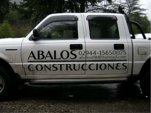 Vehículos – Camioneta de Abalos Construcciones – Lago Puelo – Provincia del Chubut - RA Carteles
