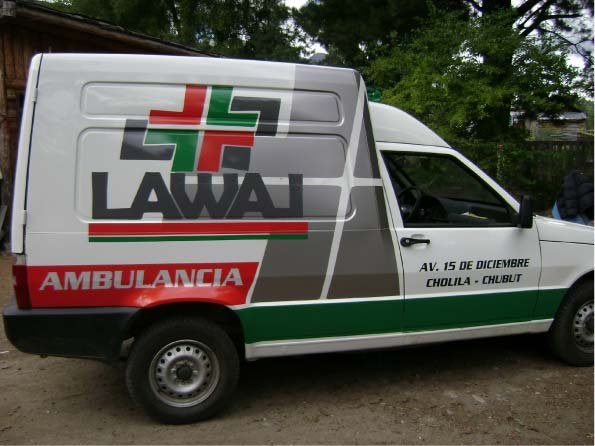 Vehículos - Ambulancia - Cholila - Provincia del Chubut - RA Carteles