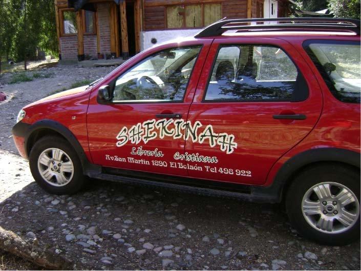 Vehículos Ploteados - Librería Cristiana Shekinah - El Bolsón - Provincia de Río Negro