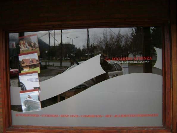 Vidrieras - Ricardo Atienza - Productor Asesor de Seguros - Lago Puelo - Provincia del Chubut - RA Carteles