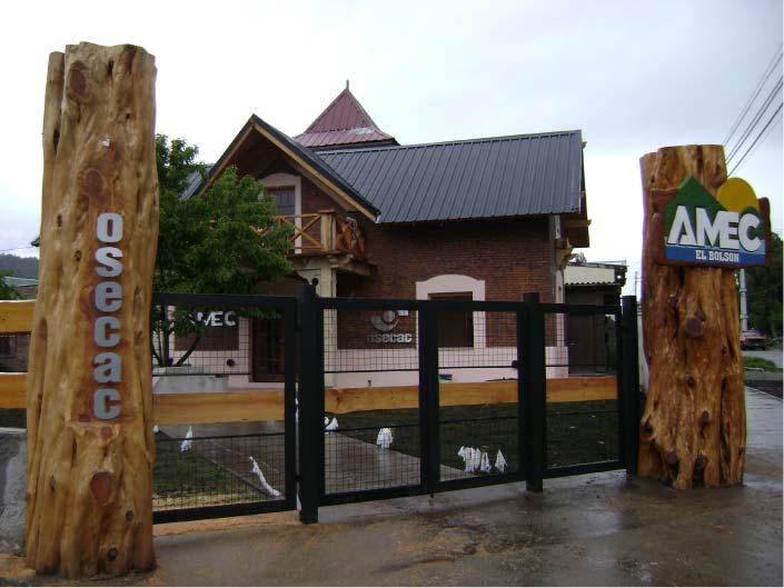 Cartel corpóreo - AMEC - OSECAC - El Bolsón - Provincia de Río Negro - RA Carteles