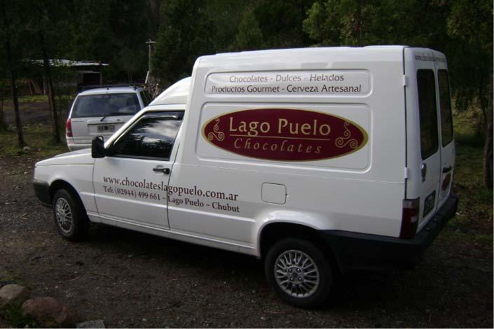 Vehículos - Chocolates Lago Puelo - Lago Puelo - Provincia del Chubut - RA Carteles
