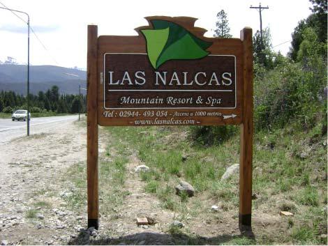 Tallados- Las Nalcas, Mountain Resort & Spa - Villa Turismo - El Bolsón - RA Carteles