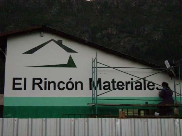 Muros Pintados - El Rincón Materiales- Lago Puelo - Provincia del Chubut - RA Carteles