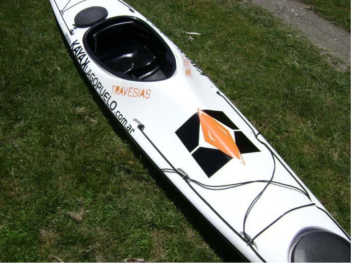 Varios - Personalización de kayak - Kayak Lago Puelo - Lago Puelo - Provincia del Chubut - RA Carteles