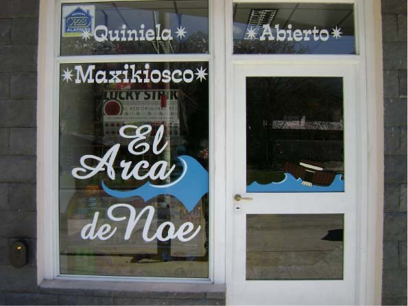 Vidrieras - Kiosco El Arca de Noé - El Bolsón - Provincia de Río Negro - RA Carteles