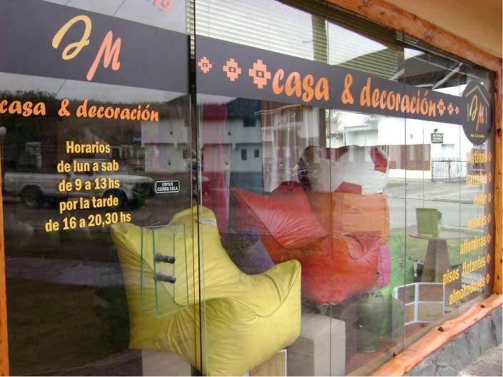 Vidrieras - JM Casa & Decoración - El Bolsón - Provincia de Río Negro - RA Carteles