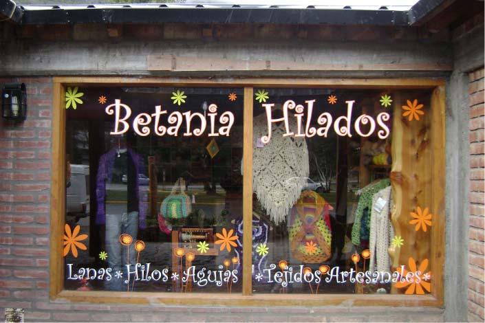 Vidrieras - Betania Hilados - Lago Puelo - Provincia del Chubut - RA Carteles